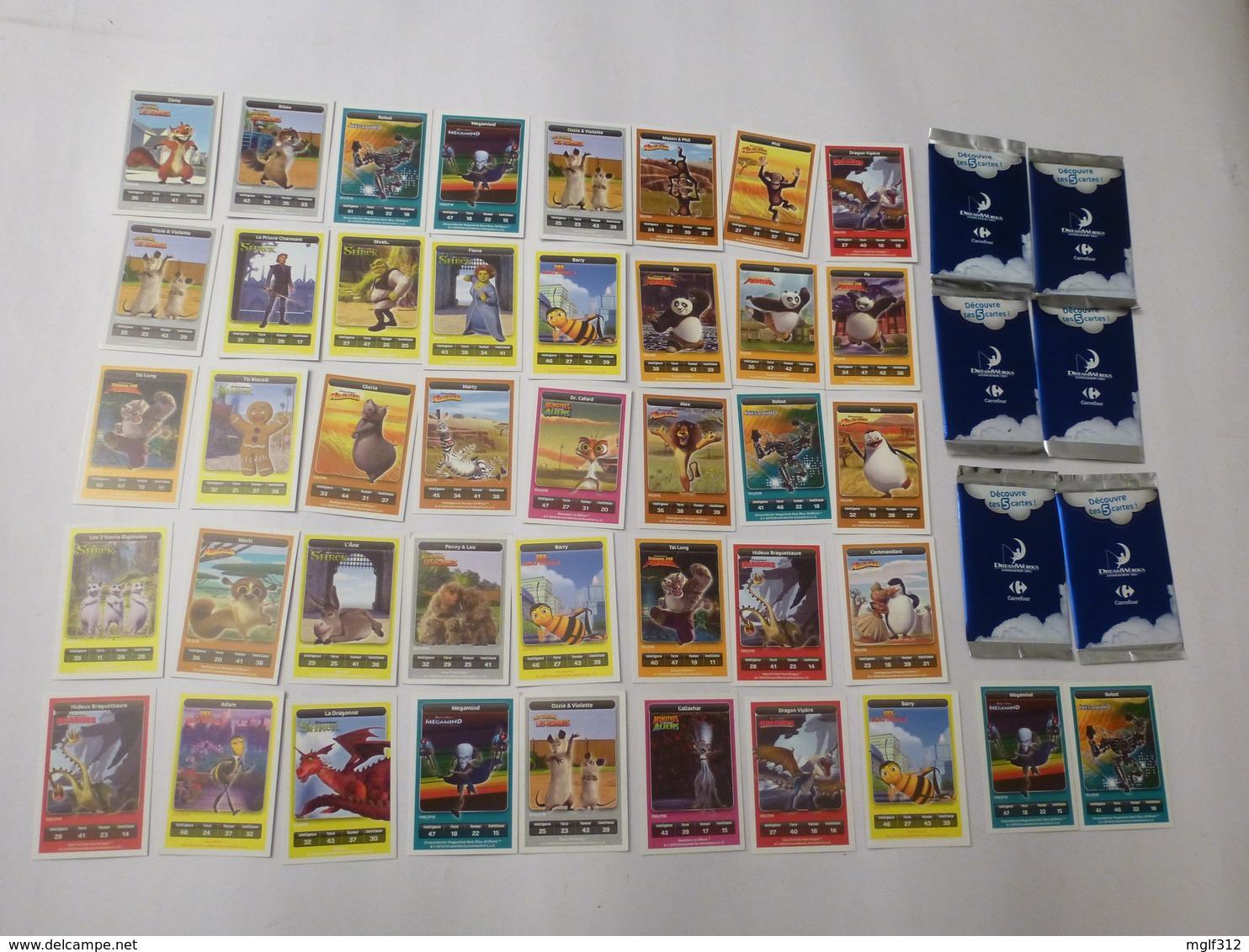 DreamWorks (jeu) - CARREFOUR 2010 - Lot De 72 Cartes - Non Classés