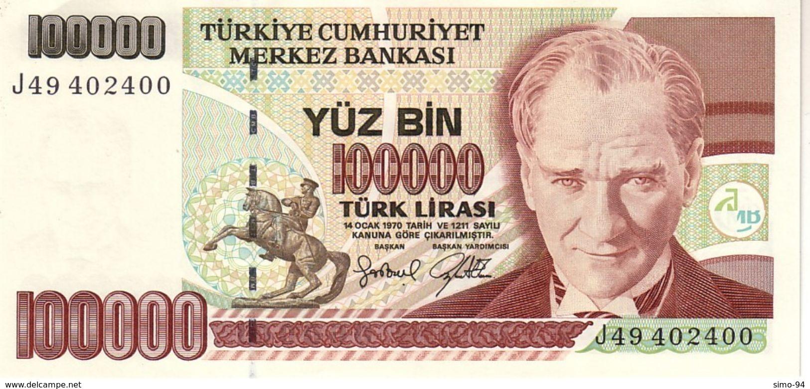 Turkey P.206  100000 Lirasi 1997 Unc - Turchia