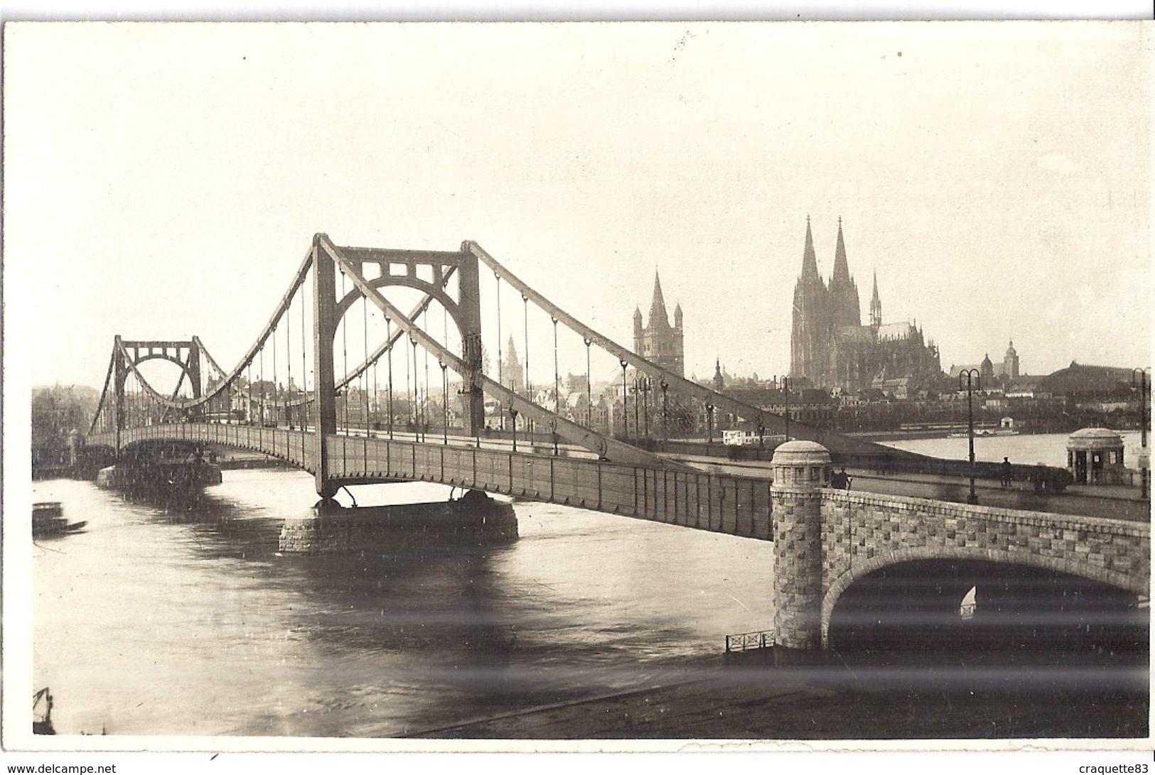COLOGNE    Bord Du Rhin  MAI 1919   CARTE PHOTO - Lieux