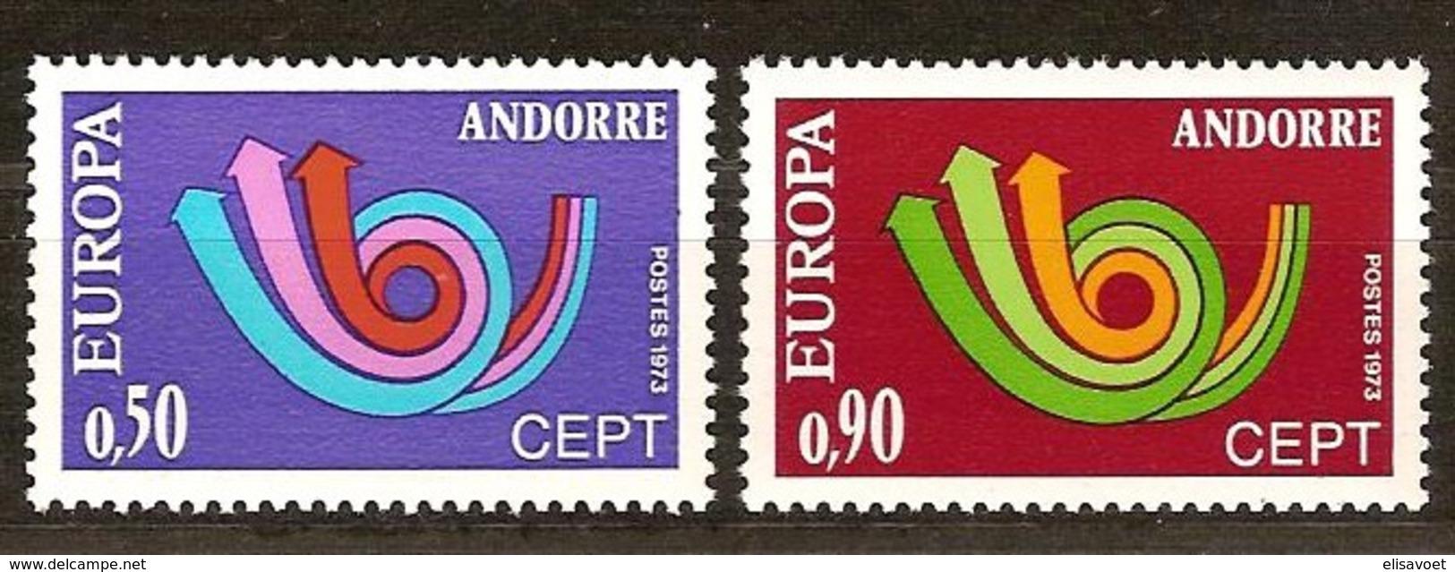 Andorra Andorre Cept 1973 Yvertn° 226-227 *** MNH Cote 40 Euro - Neufs