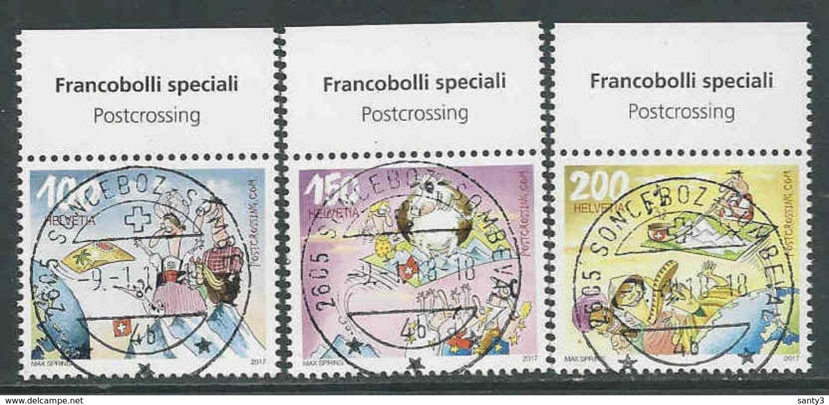 Zwitserland, Mi  2500-02 Jaar 2017, Reeks,  Prachtig Gestempeld, Zie Scan - Oblitérés