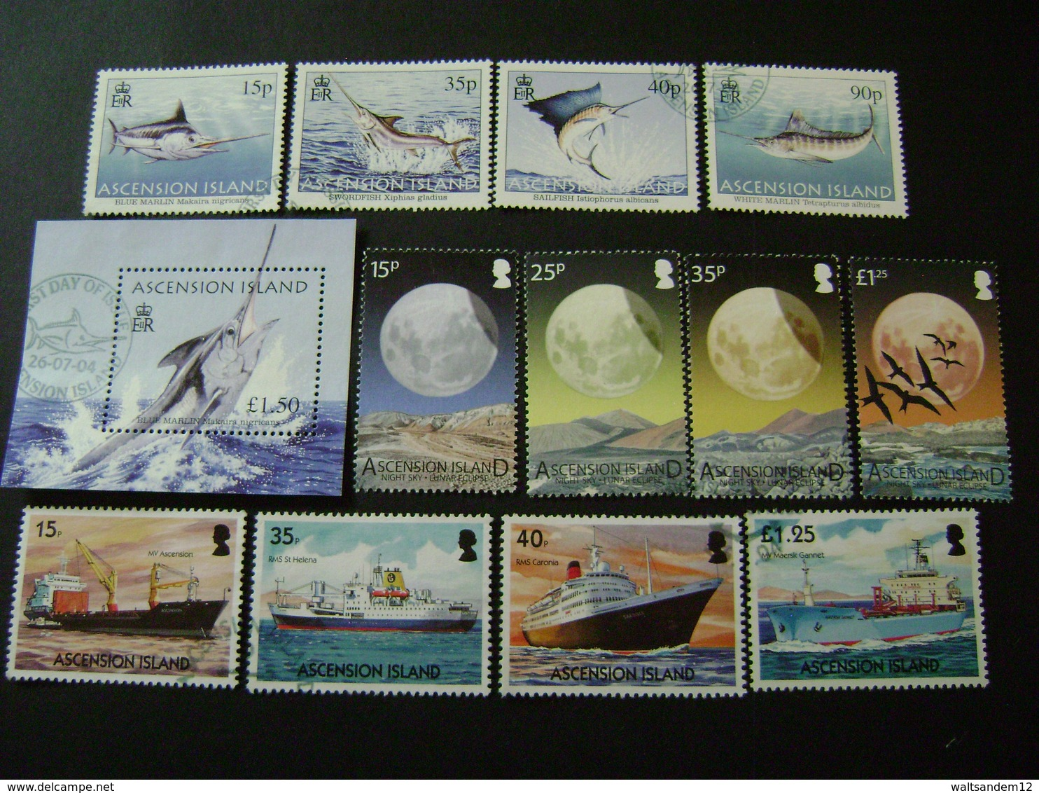 Ascension Island 2004 Commemorative Issues - Used - Ascension