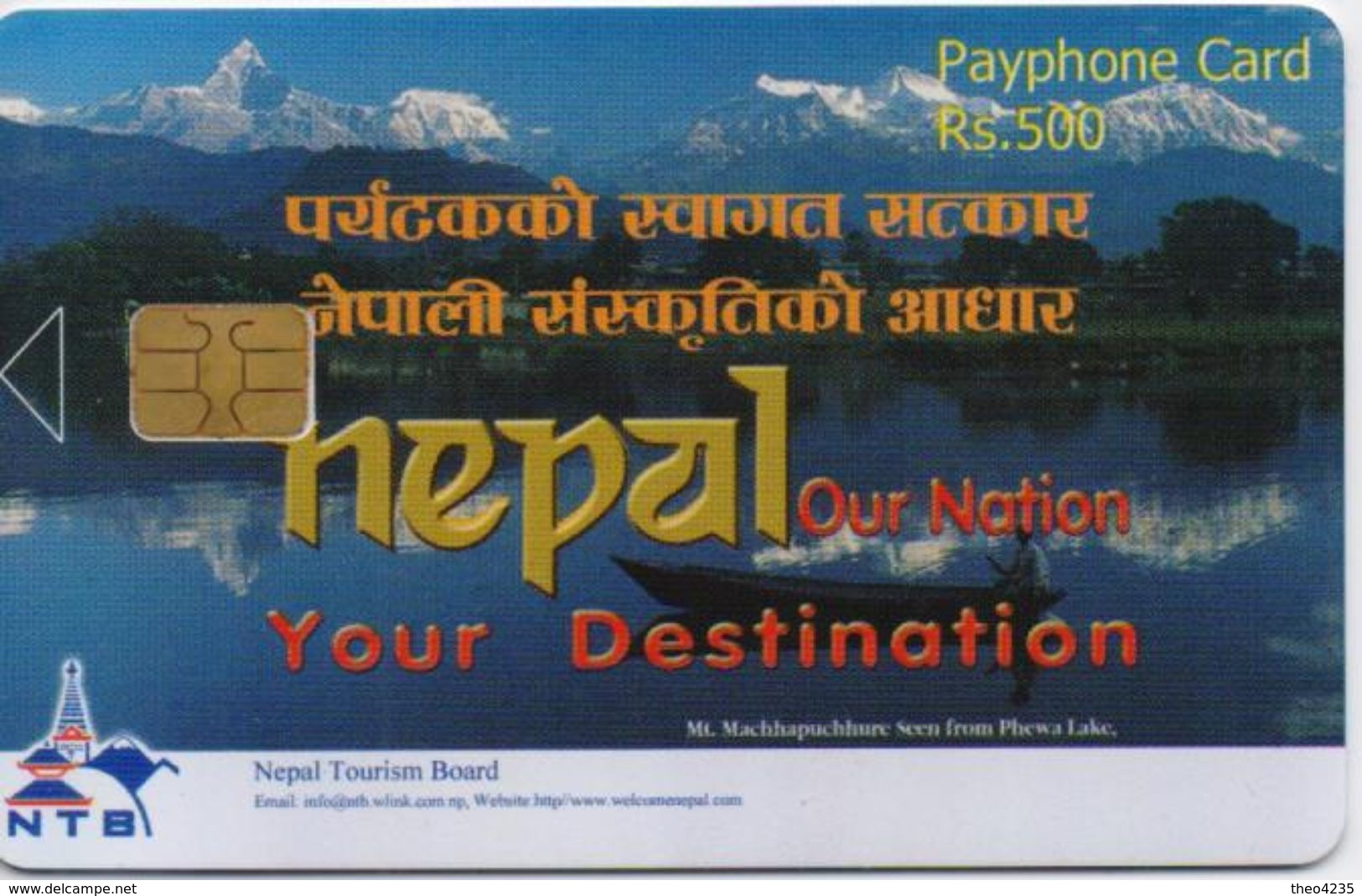 NEPAL PHONECARD LAKE/NEPAL TELECOM FIRST EDITION,Rs.500-10000pcs(no Cn)-SAMPLE(bx1) - Nepal
