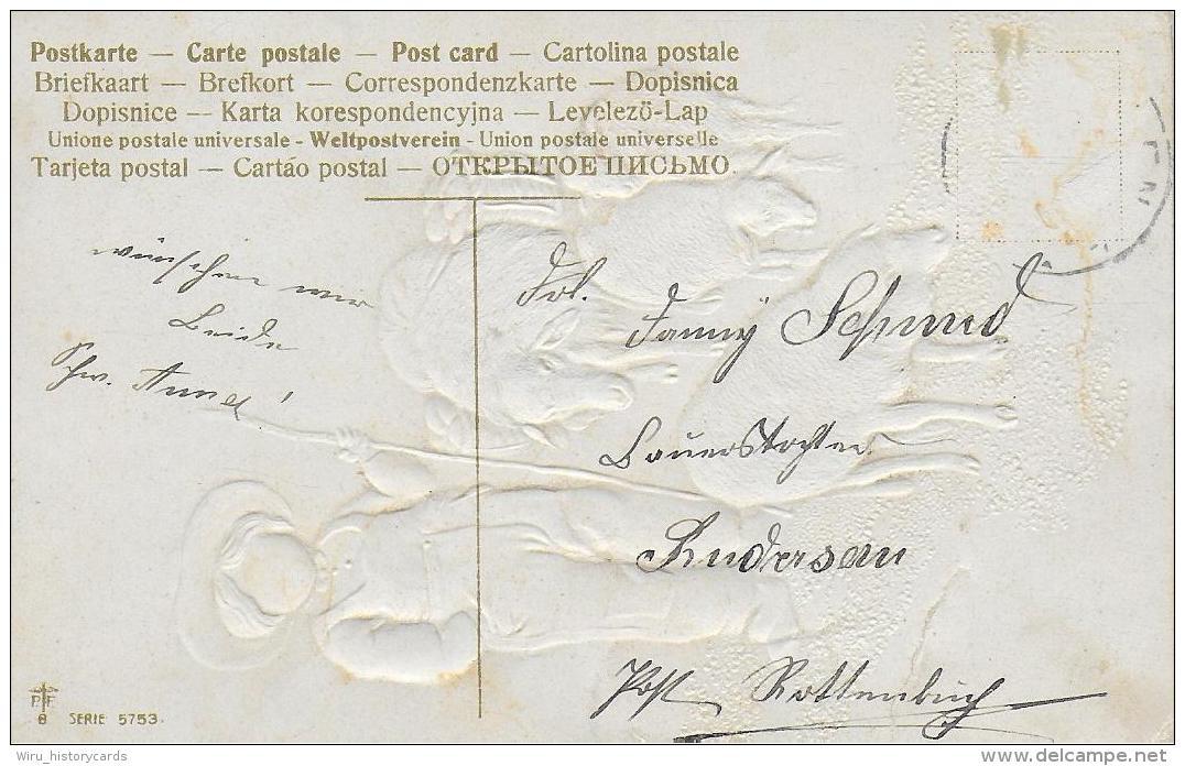 AK 0841 Fröhliche Ostern - Prägekarte Ca. Um 1910-20 - Ostern