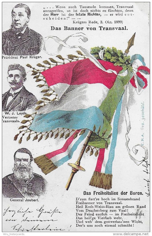AK 0841 Patriotika - Das Banner Von Transvaal ( Südafrika ) / Freiheitslied Der Buren Um 1899 - Südafrika