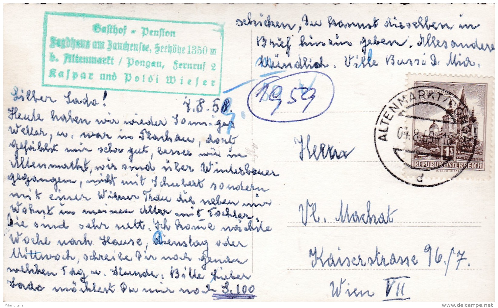 Gasthaus U. Pension Jagdhaus Am Zauchensee Bei Altenmarkt Im Pongau, Salzburg * 4. 8. 1959 - Altenmarkt Im Pongau