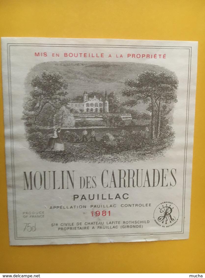 6900 -  Moulin Des Carruades 1981 Pauillac - Bordeaux