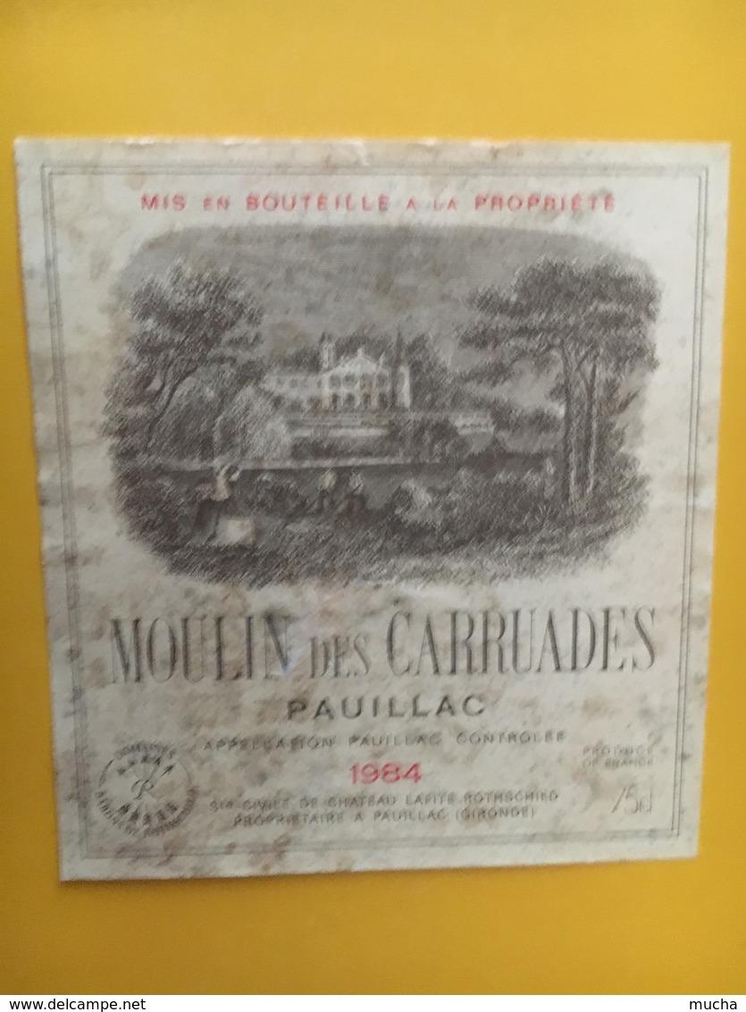 6901-  Moulin Des Carruades 1984 Pauillac état Moyen - Bordeaux