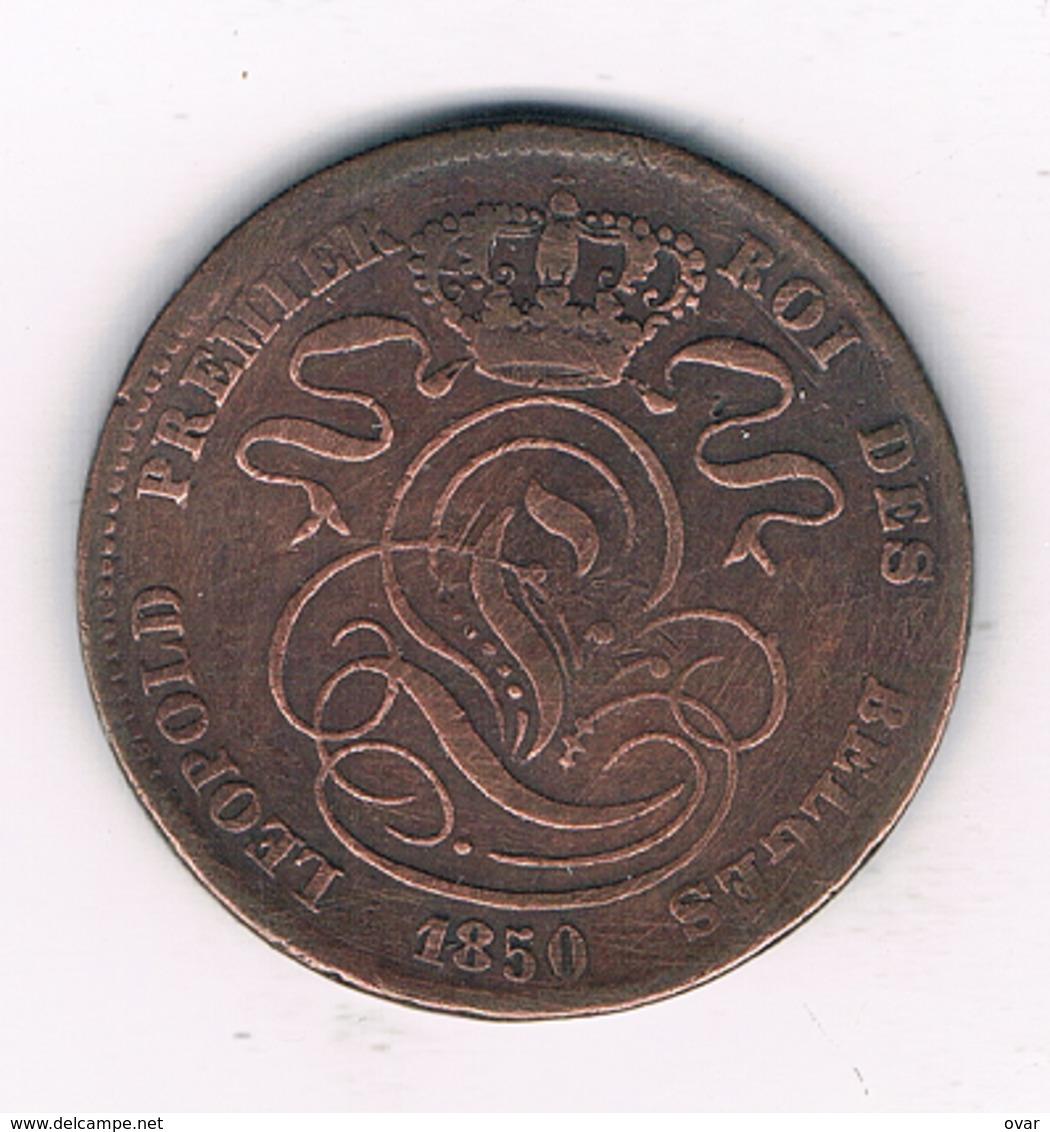 5 CENTIMES  1850   BELGIE /689G/ - 03. 5 Centimes