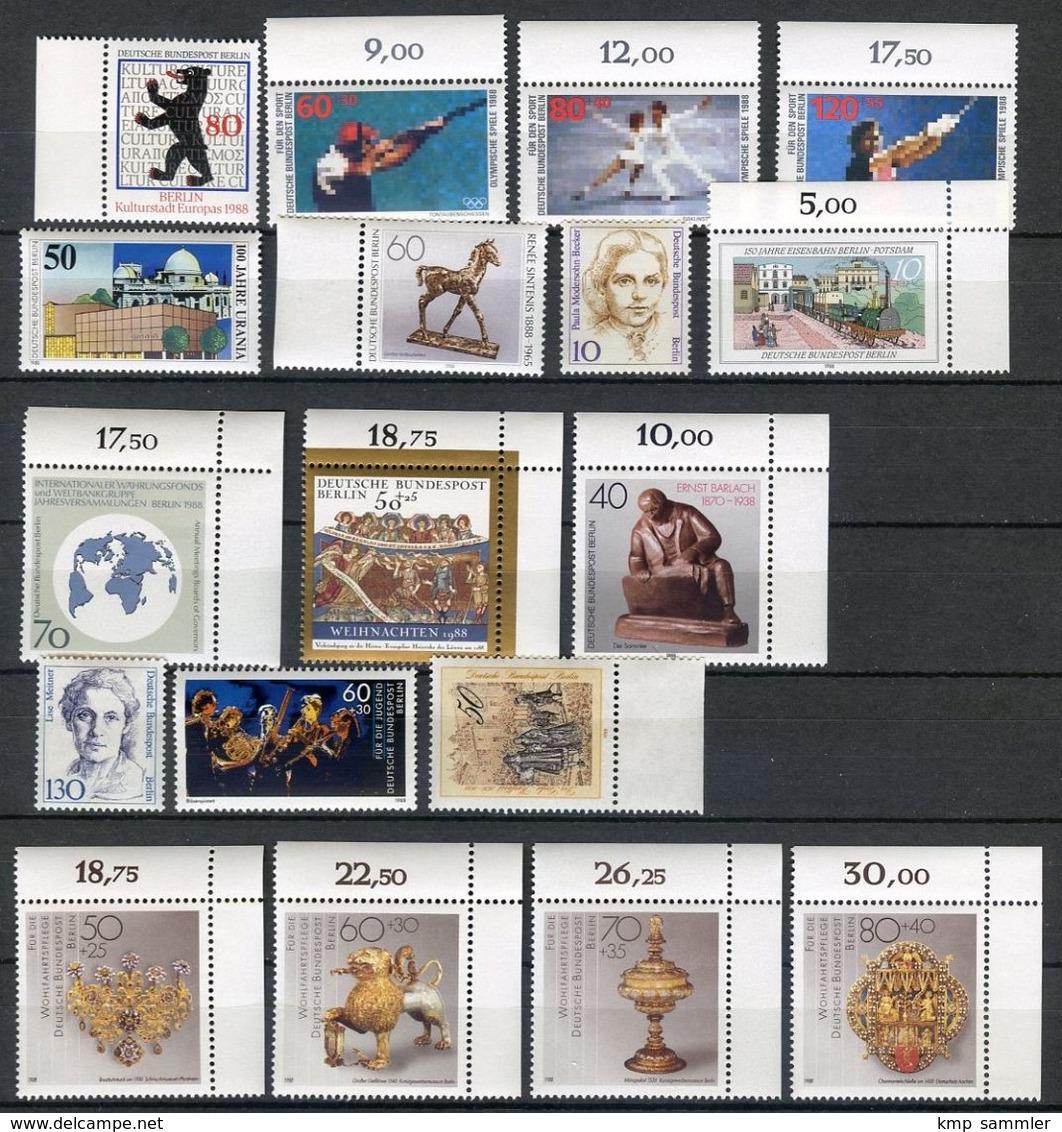 Berlin Lot Postfrische Marken 1988 (16926) - Ungebraucht