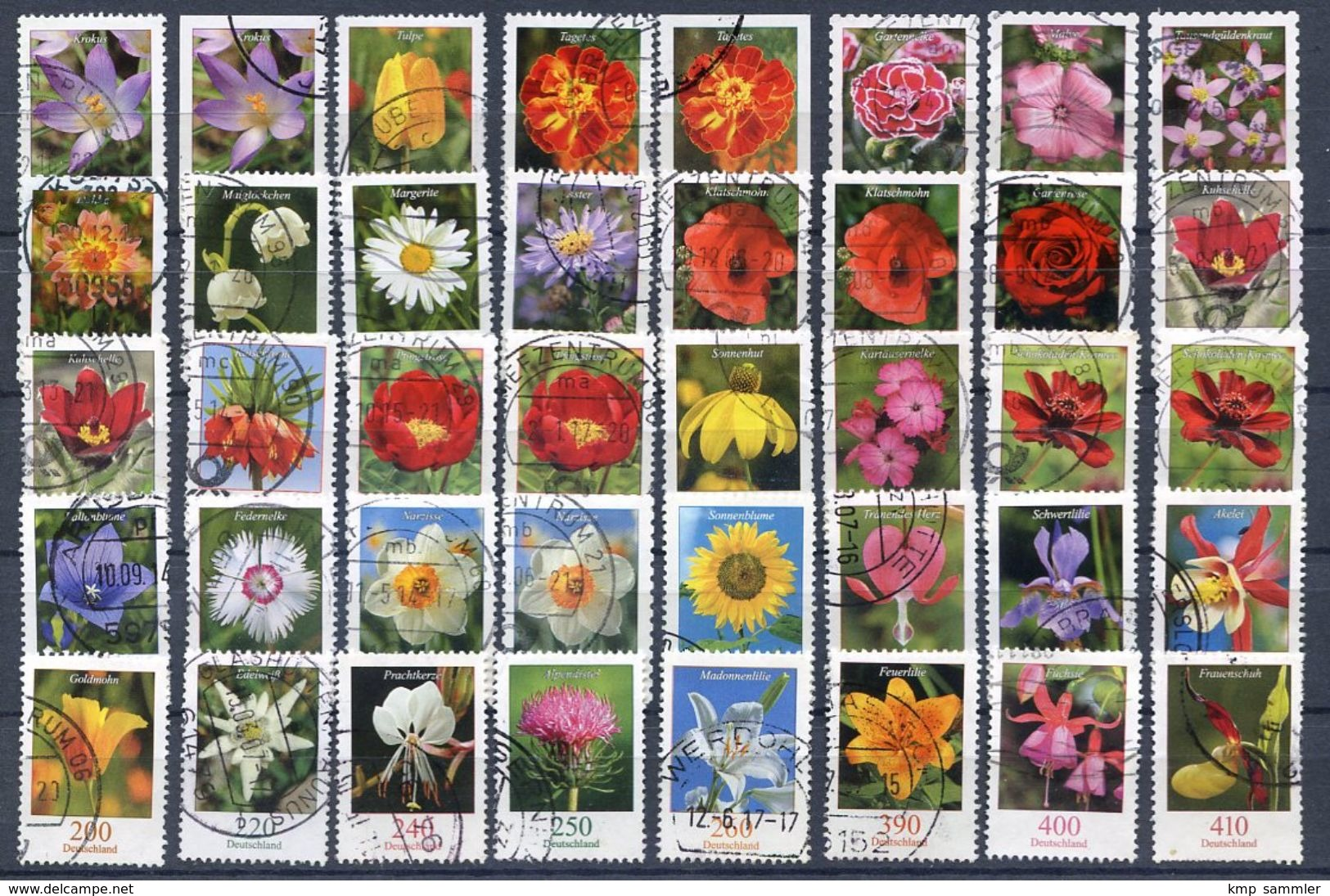 Bund Lot DS Blumen Gestempelt (16928) - [7] République Fédérale