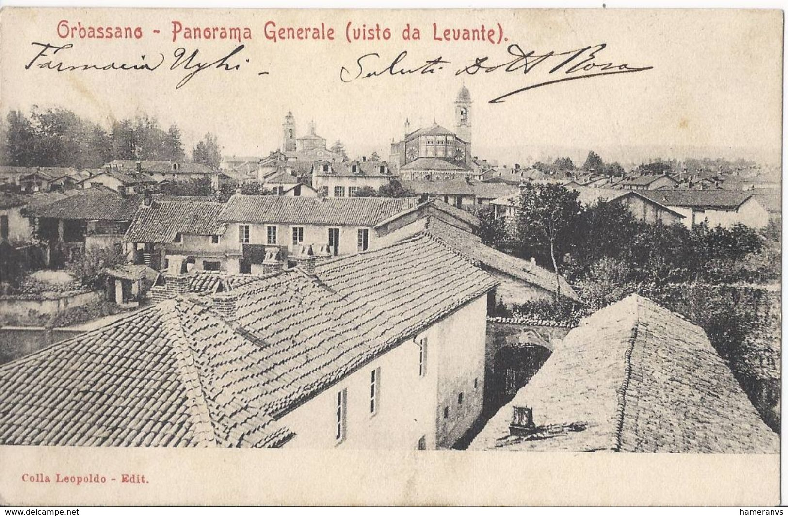 Orbassano - Panorama Generale Visto Da Levante - Timbro Farmacia - HP1115 - Italia