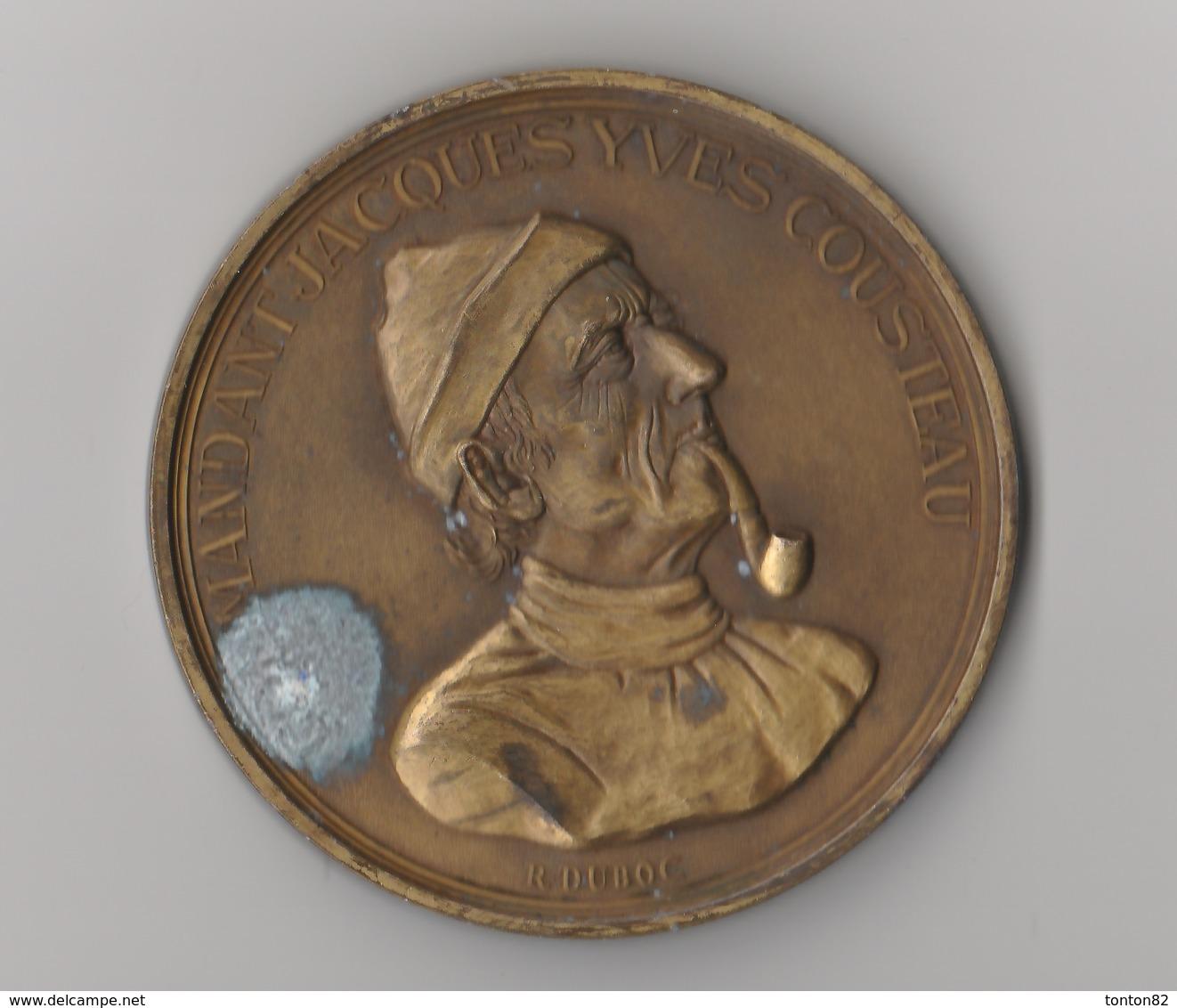 Médaille En Bronze - Commandant Cousteau / Le Monde Des Océans / La Calypso - Other