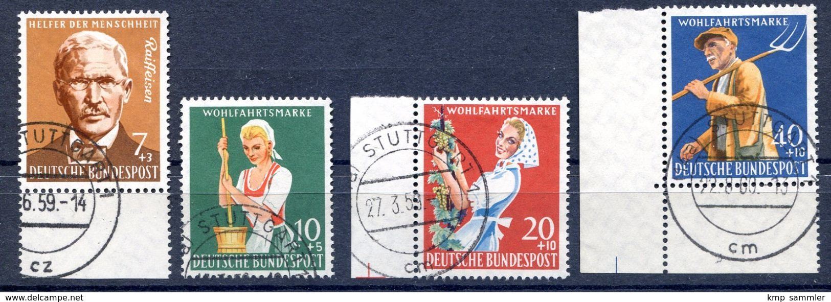 Bund MiNr 297 Bis 300 Gestempelt (16933) - BRD