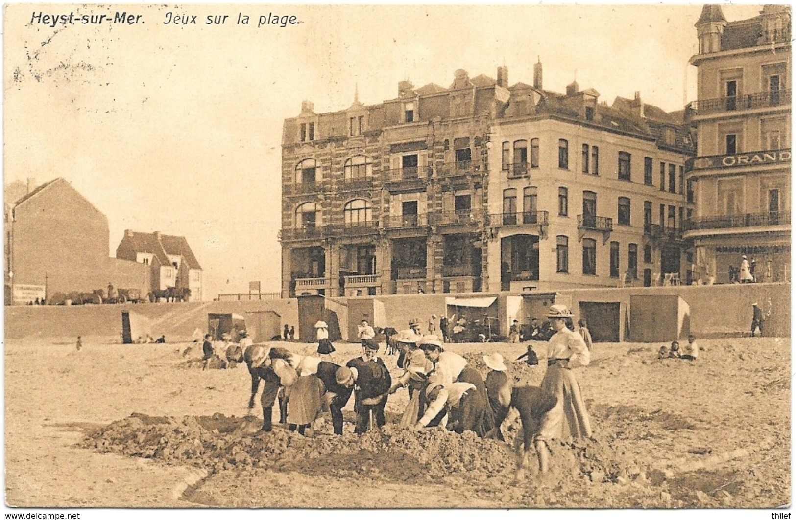 Heyst-sur-Mer NA40: Jeux Sur La Plage 1913 - Heist