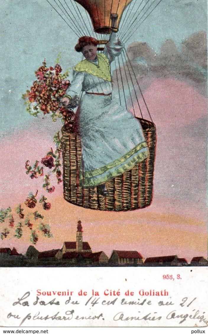 Cpa ATH Souvenir De La Cité De Goliath  Ballon Montgolfière - Ath