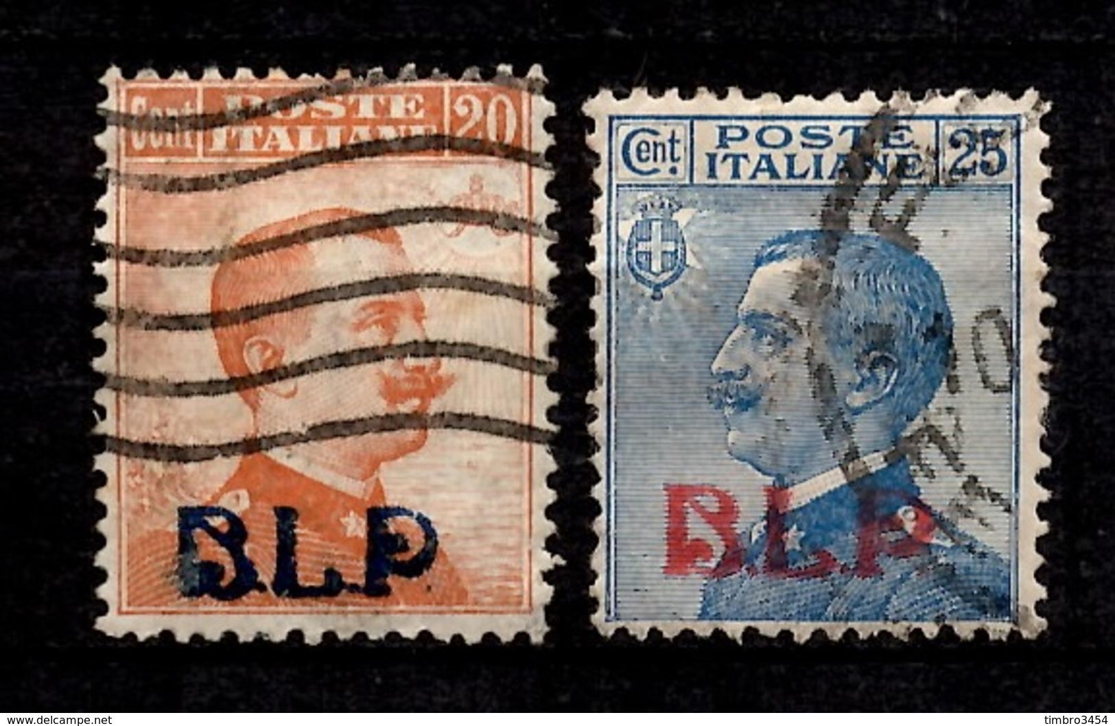 Italie Timbres Pour Enveloppes-réclames (BLP) YT N° 3 Et 4 Oblitérés. Rare! B/TB. A Saisir! - 1900-44 Victor Emmanuel III