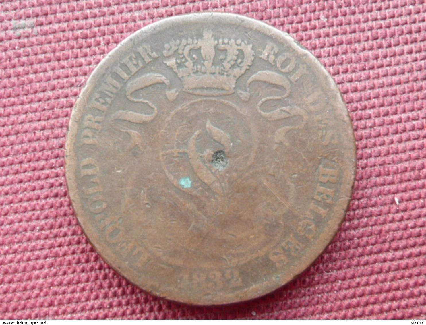 BELGIQUE Monnaie De 10 Centimes 1832 Frappe Décalée 10 Heures - 1831-1865: Léopold I