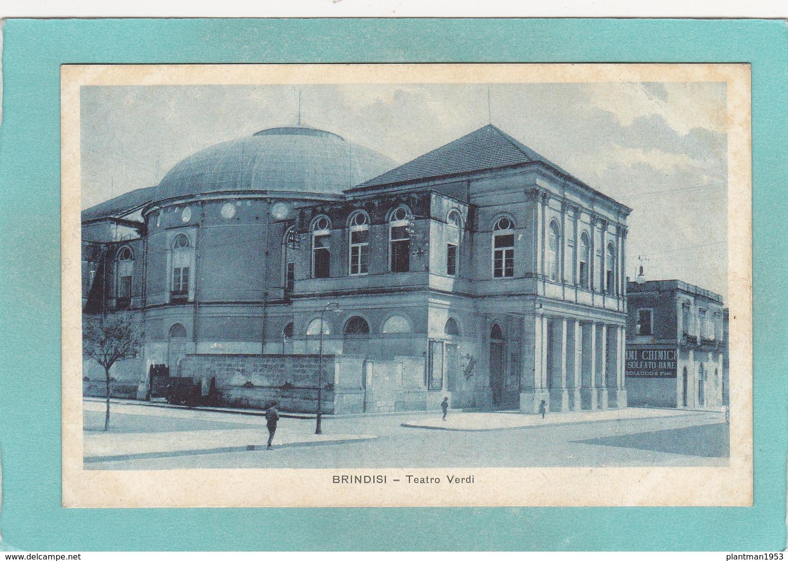Small Postcard Of Teatro Verdi,Brindisi, Apulia, Italy,Q84. - Italia