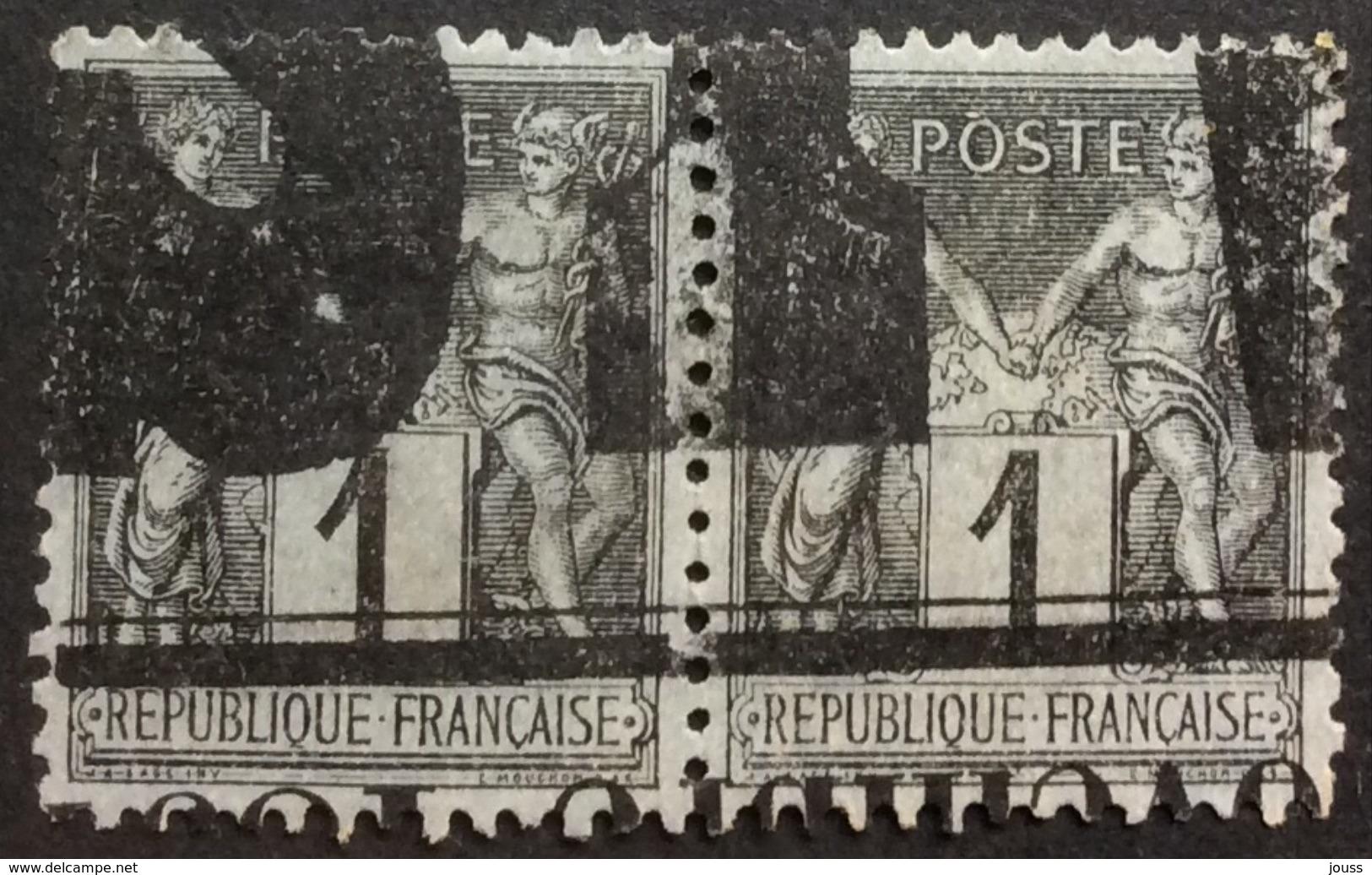 83 J 9 Annulation Typographique Des Journaux Paire - Marcophilie (Timbres Détachés)