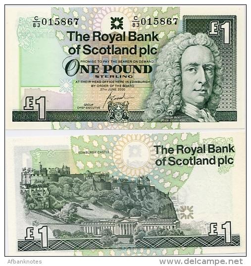 SCOTLAND - RBS     1 Pound      P-351e       27.6.2000         UNC - [ 3] Scotland