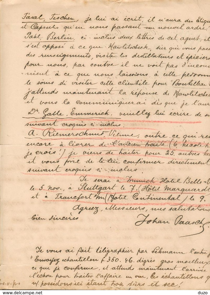 Autriche - Lettre Avec Entête Novembre 1897 - Hôtel Tegetthoff - Vienne Pour Barbezieux (France) - Autriche