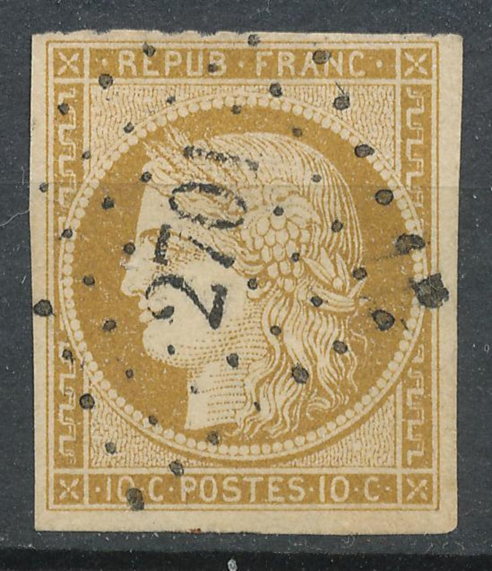 N°1 LOSANGE PETITS CHIFFRES 1er CHOIX - 1849-1850 Ceres