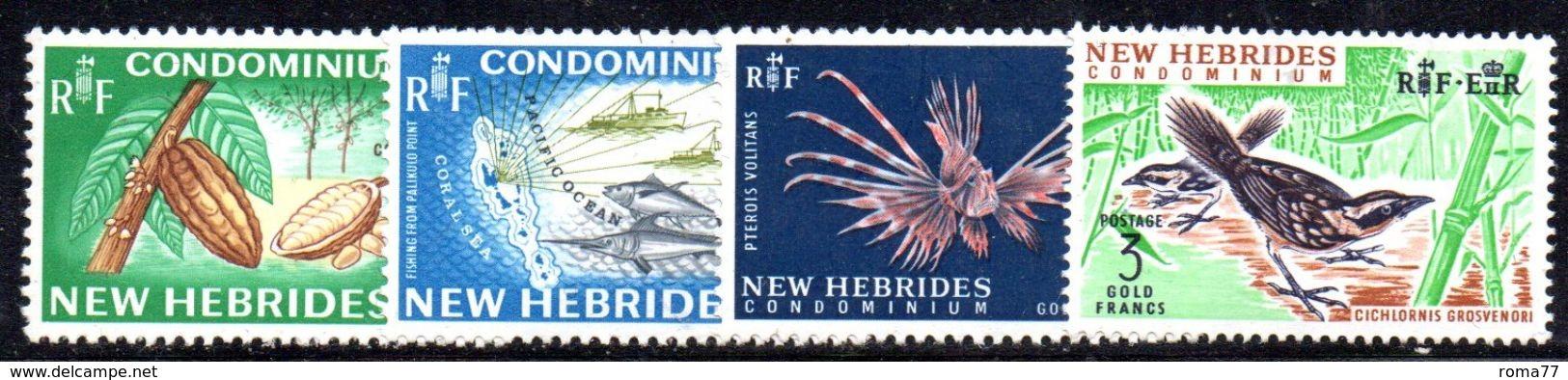 T138 - NEW HEBRIDES 1968, Serie N. 219-222 MNH *** - Nuovi