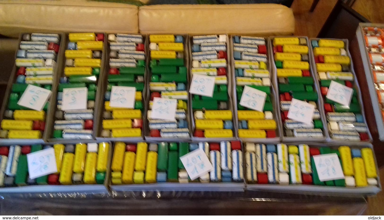 SÉSAME.Boite Rare De 12 Camions BERLIET,MERCEDES,BERNARD..etc..(lot N°3) Sésame Made In France - Toy Memorabilia