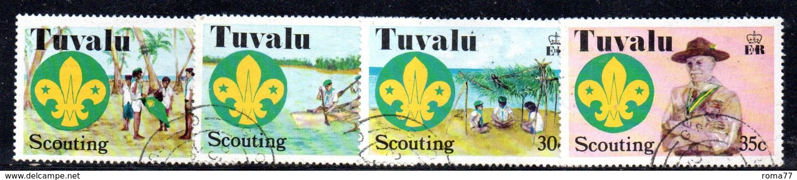 T1808 - TUVALU 1977 , Scout Serie N. 51/54 Used . - Tuvalu