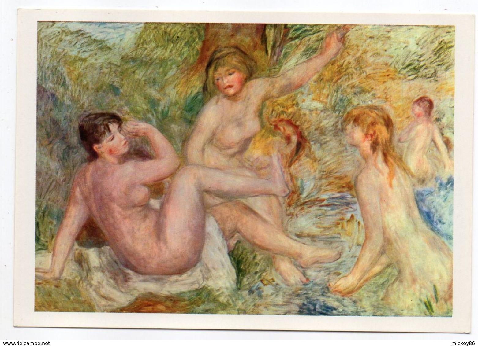 NU--tableau  --Auguste RENOIR --Esquisse Pour Les Grandes Baigneuses - Tableaux