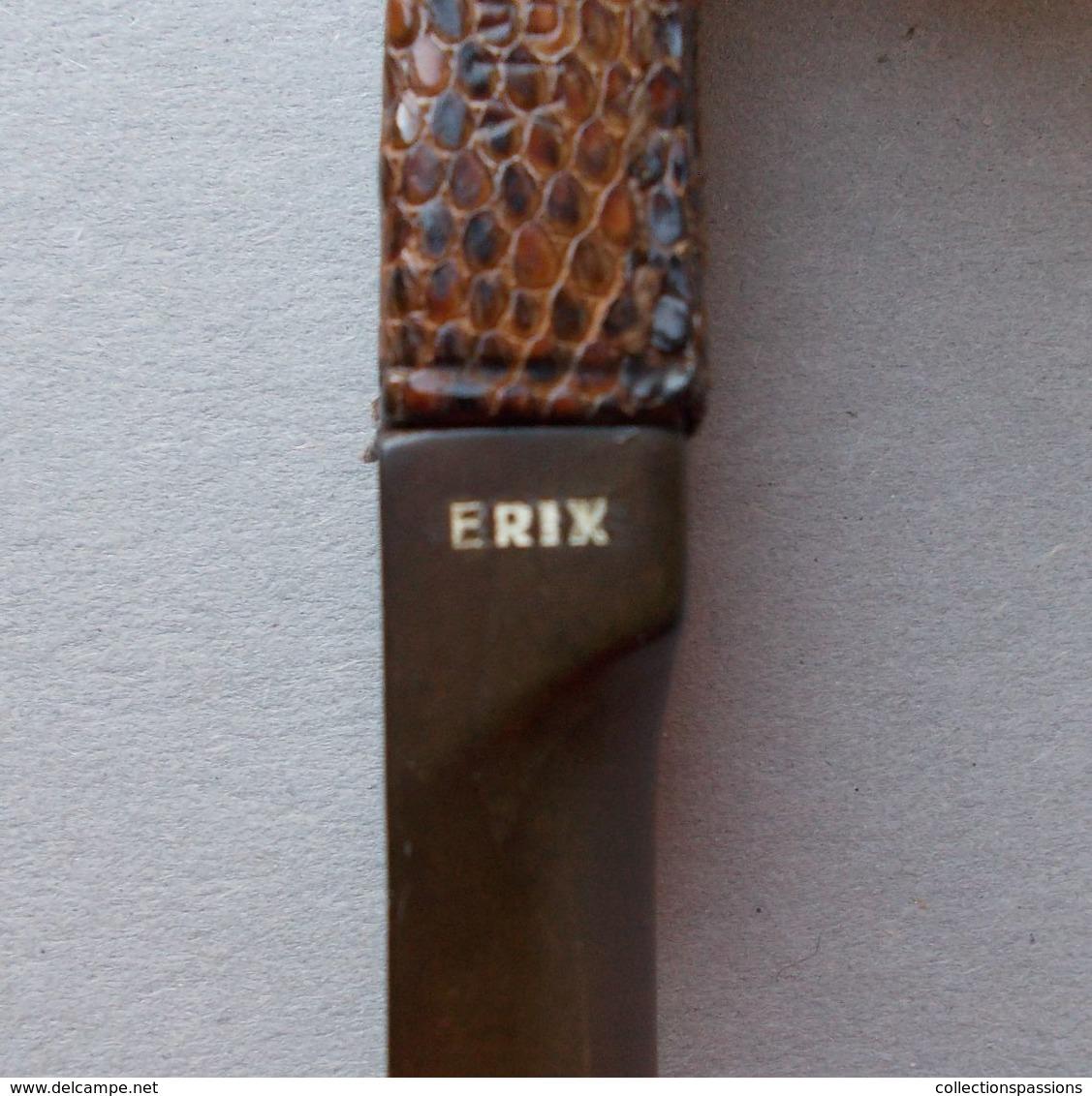 - Ancienne Pipe - Erix - Pipe Gainée De Cuir - - Heather Pipes