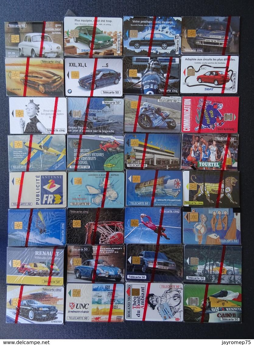 Lot De 48 Telecartes Dans Blister D'origine - Télécartes
