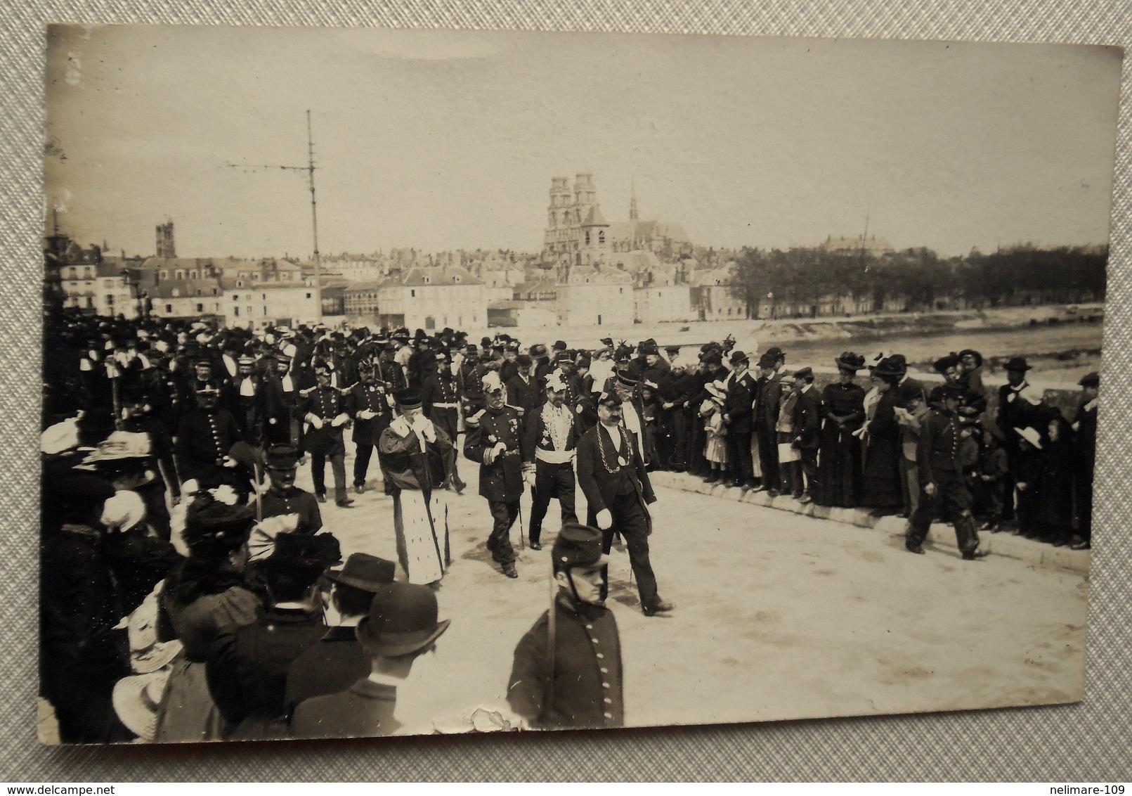Cpa CARTE PHOTO MILITARIA AVANT GUERRE ORLEANS LOIRET 45 FÊTES JEANNE D'ARC Défilé Militaires Personnalités TASSIN - Orleans