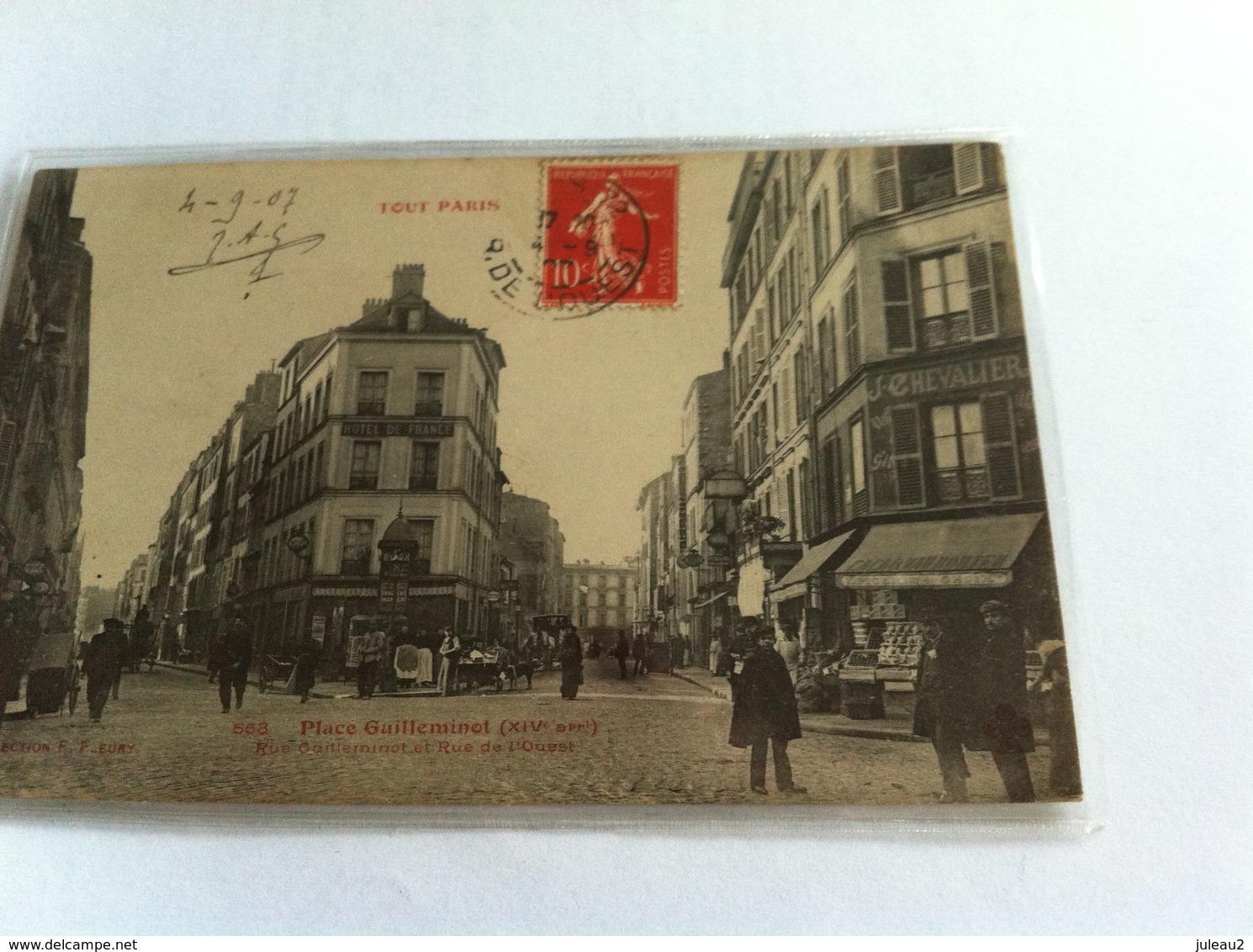 Tout Paris -  568 Place Guilleminot (XIVe Arrdt) Rue Guilleminot Et Rue De L'Ouest - Arrondissement: 14