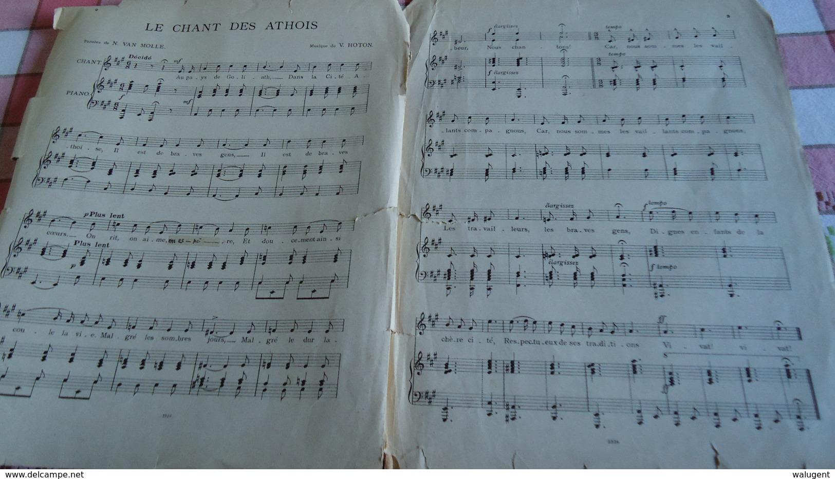 Ath - Partiture  - Le Chant Des Athois (voir Détails) - Instruments à Clavier