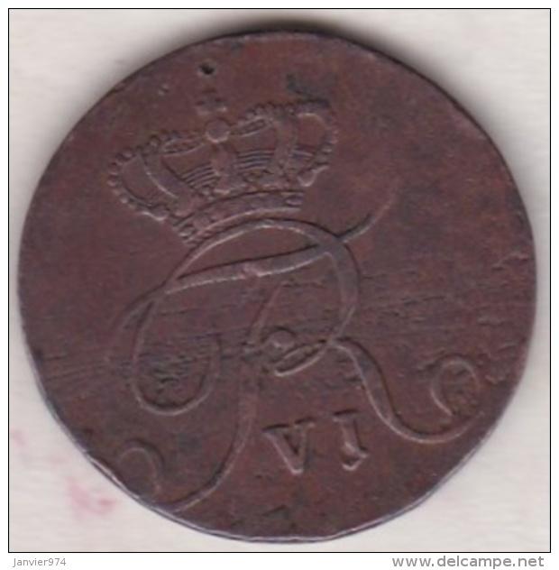 Norvege 2 Skilling Courant 1810. Frederik VI, Variété Grande Couronne, Petite Croix Et Petit 2 - Norvège