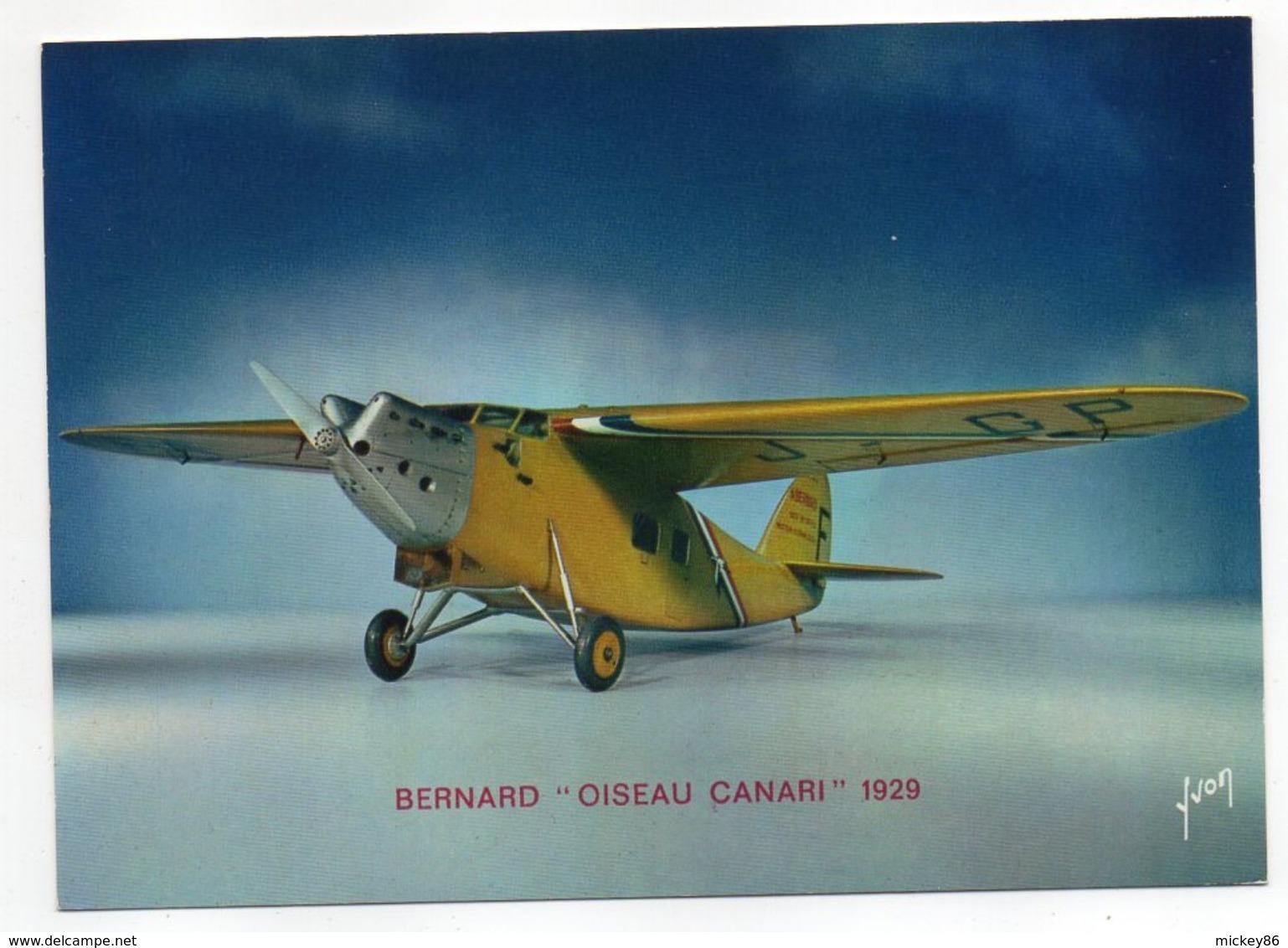 """Les Collections Du Musée De L'air--Avion--BERNARD """"Oiseau Canari """"    1929 ---modèle Réduit 1/10- - Autres"""