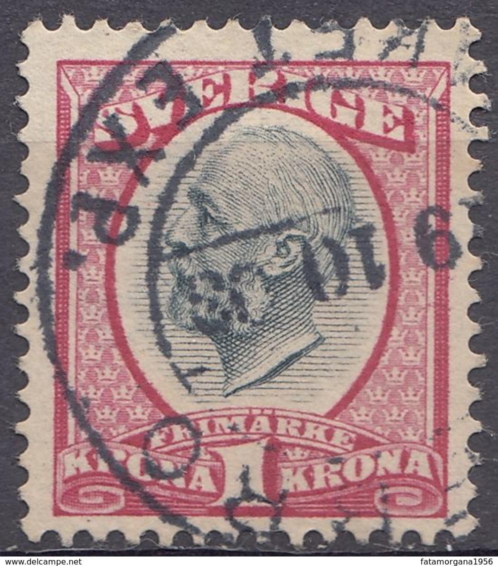 SVEZIA - SVERIGE - 1900 -  Yvert 49A Obliterato. - Schweden