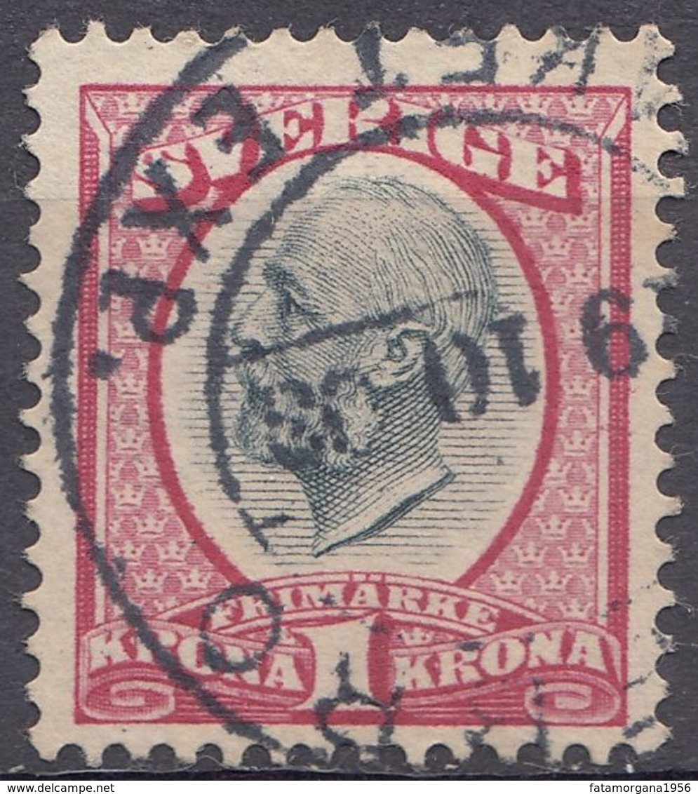 SVEZIA - SVERIGE - 1900 -  Yvert 49A Obliterato. - Gebraucht