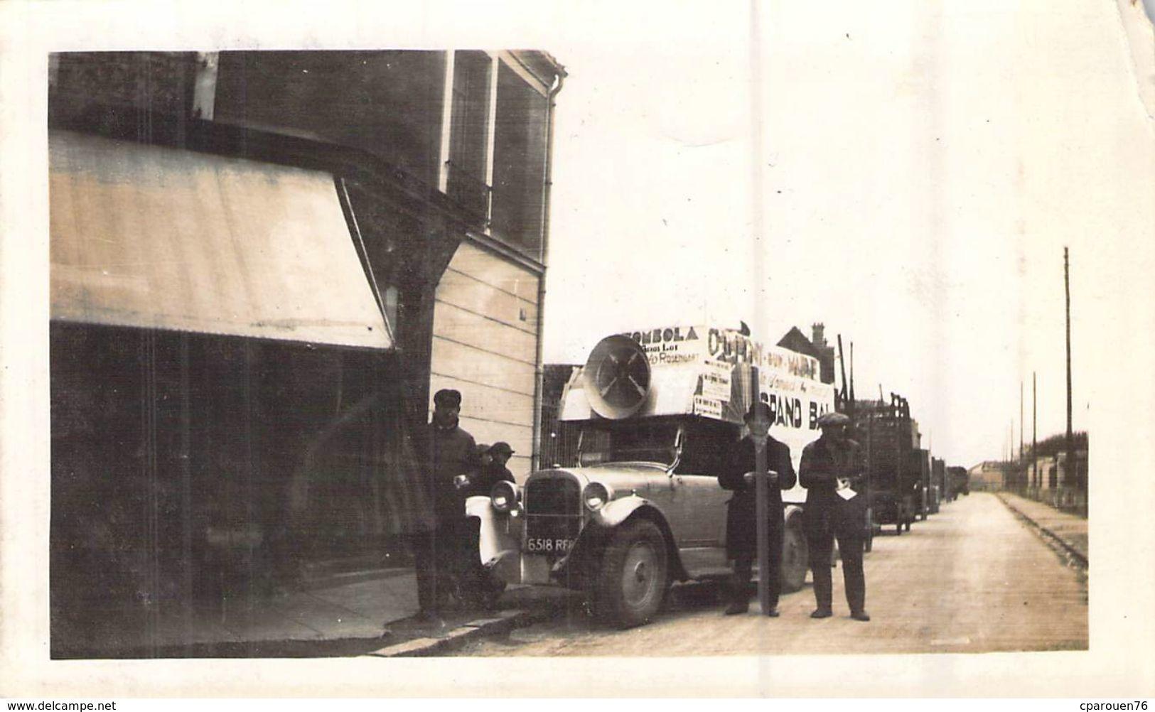 Photo Voiture Publicitaire De La  Société Parlas Chatillon Sur Bagneux  1932 Sur Une Route - Cars
