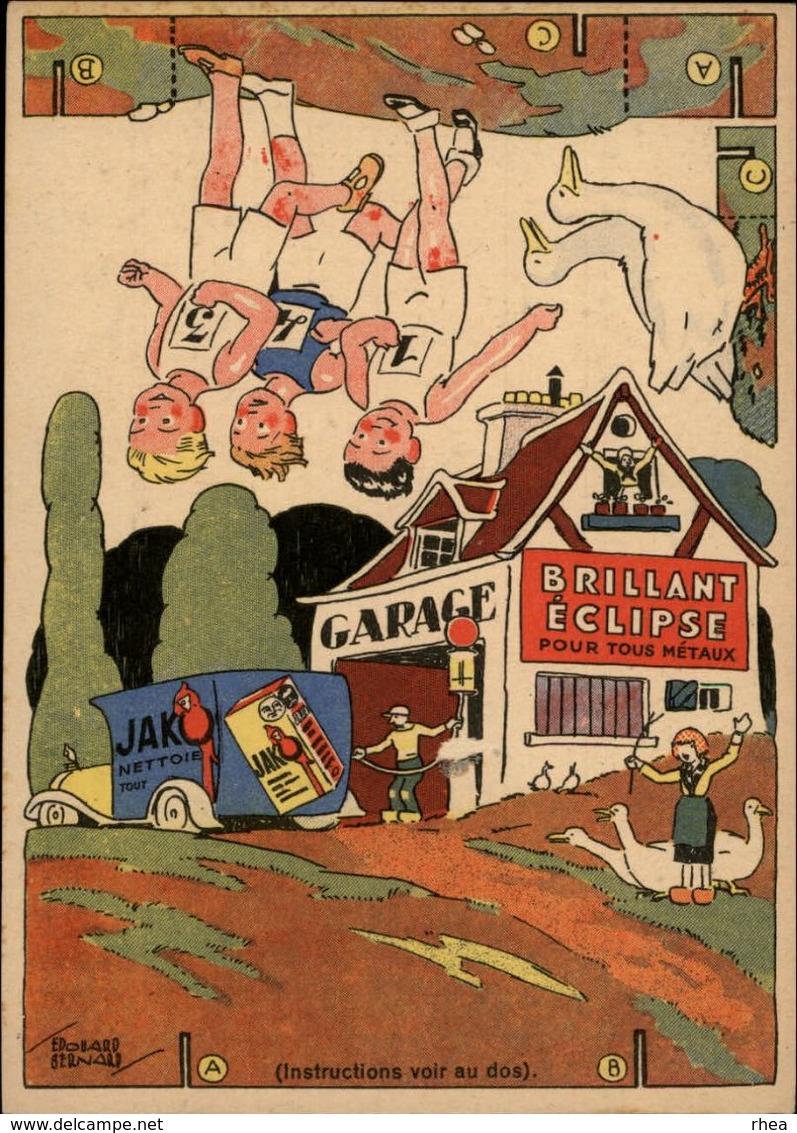 PUBLICITES -  Carte à Découper - CREME ECLIPSE - Cirage - Illustrée Par EDOUARD BERNARD - Garage - Publicités
