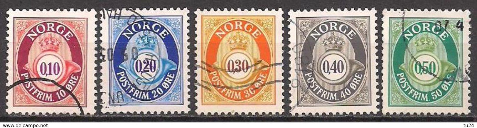 Norwegen  (1997)  Mi.Nr.  1237 - 1241 A  Gest. / Used  (3ev19) - Norwegen