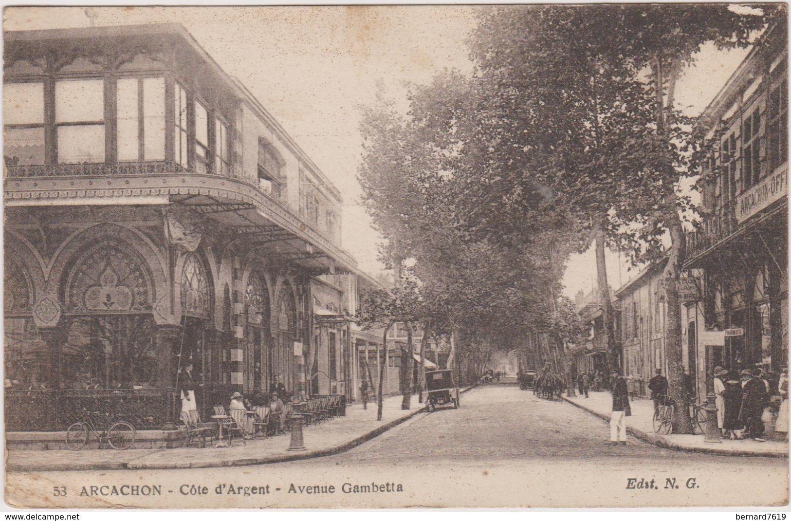 33 Arcachon Cote D'argent Rue Gambetta - Arcachon