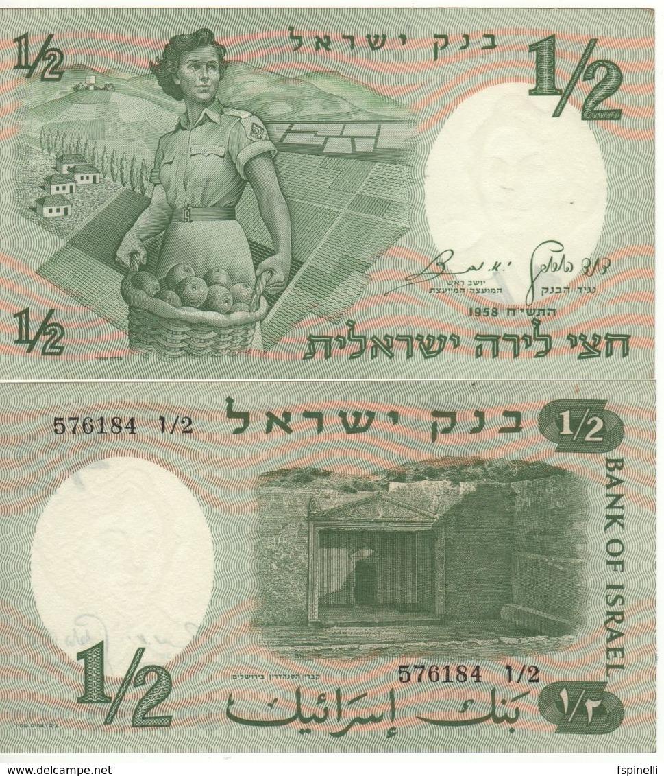 """ISRAEL  1/2  Lira     P29a   """"Woman Soldier""""  UNC - Israël"""