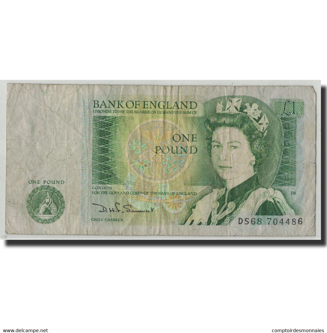 Billet, Grande-Bretagne, 1 Pound, KM:377b, B - 1952-… : Elizabeth II