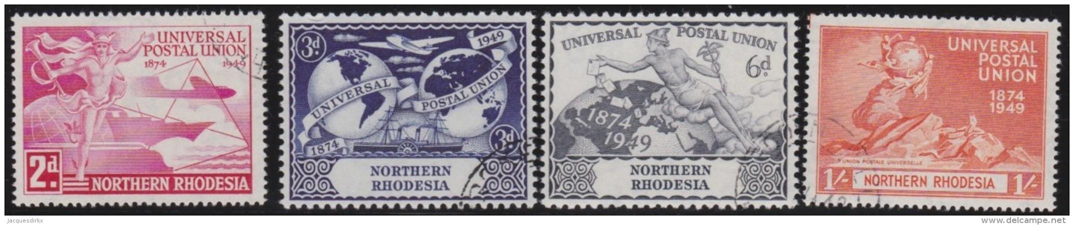 Northern  Rhodesia     .   SG   .    50/53       .       O   .      Cancelled   .   /   .   Gebruikt - Noord-Rhodesië (...-1963)
