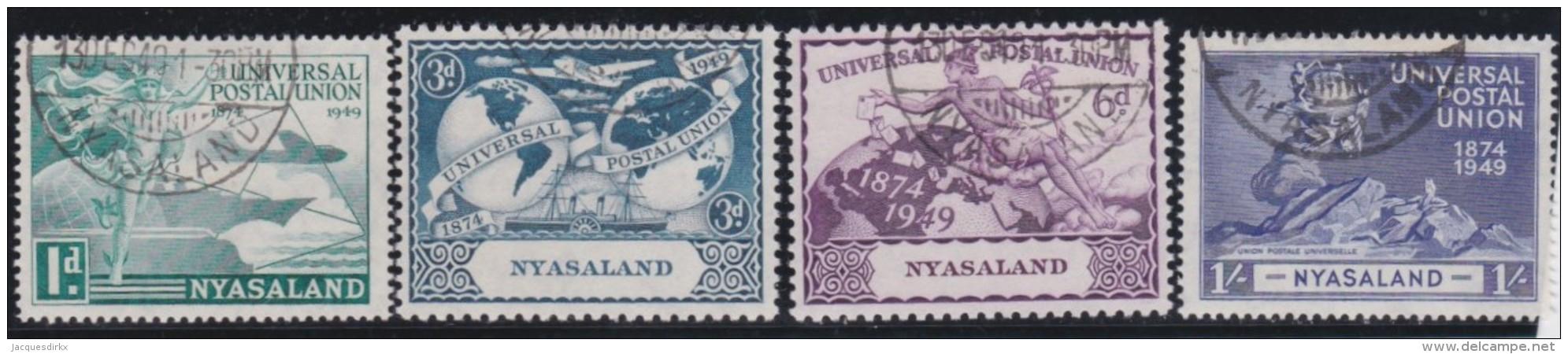 Nyasaland           .   SG   .    163/166           .       O   .      Cancelled   .   /   .   Gebruikt - Nyassaland (1907-1953)