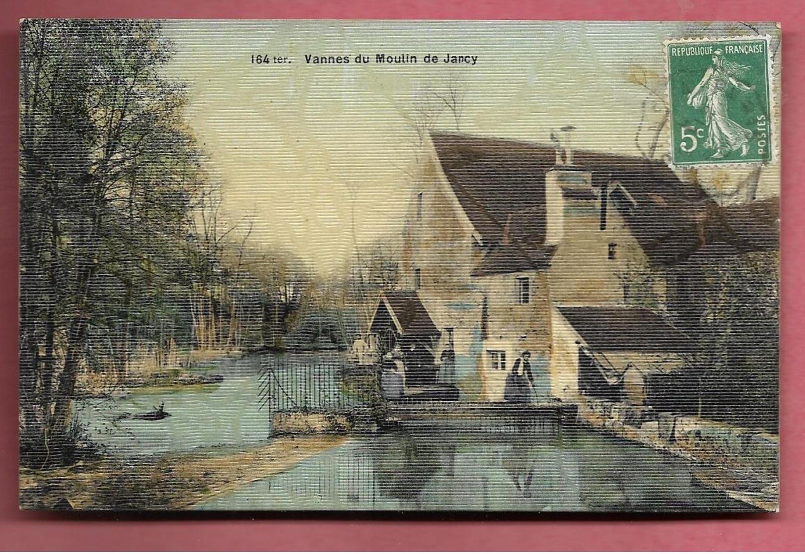 JARCY - Vannes Du Moulin - CPA Toilée Et Colorisée - Frankrijk