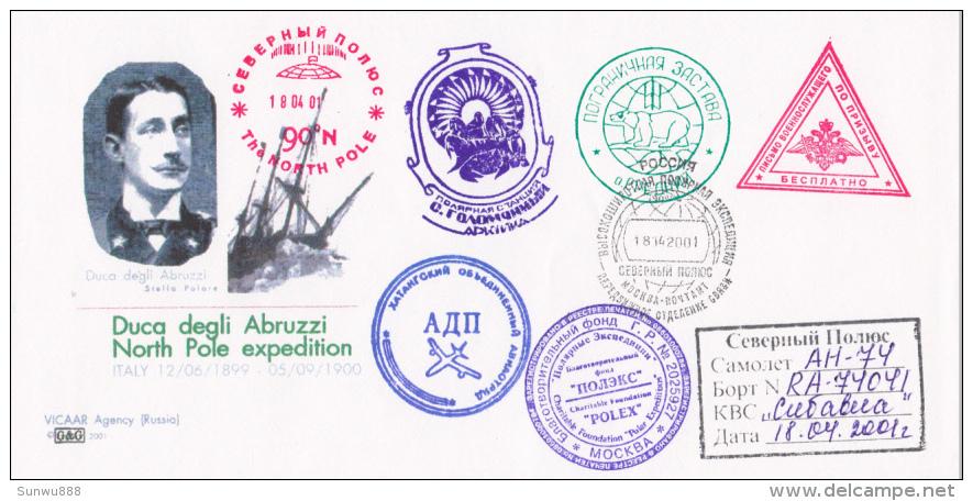 North Pole Expedition Polex Moscou 2001 Duca Degli Abruzzi Stella Polare - Terres Australes Et Antarctiques Françaises (TAAF)